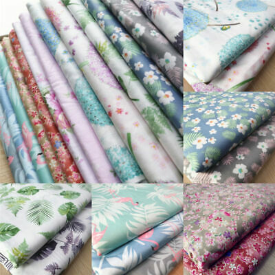 By The Yard 100% Cotton Fabric Pre-Cut Floral Quilting Cloth Sewing Crafts (Pre-quilted Fabric By The Yard)