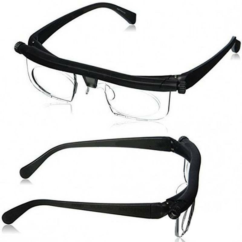 Unisex Dial Adjustable Glasses Eyeglasses Variable Focus Rea