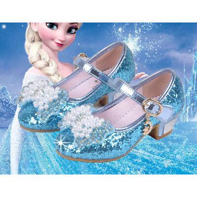 Kinder Mädchen Cosplay Sandalen Gefrorene Elsa Anna Princess Party Pearl Schuhe (Anna Gefrorene Schuhe)