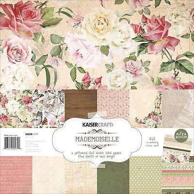 Kaisercraft Paper Pack 12 Inch X 12 Inch 12/Pkg-Mademoiselle 883416255390