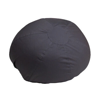 Small Kids Comfy Bean Bag Chair in Solid Gray Cotton Fabric Cotton Comfy Bean Bag