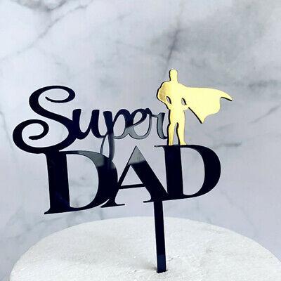 Super Dad Best Papa Cake Topper Tortendeko Kuchendeko Tortenstecker