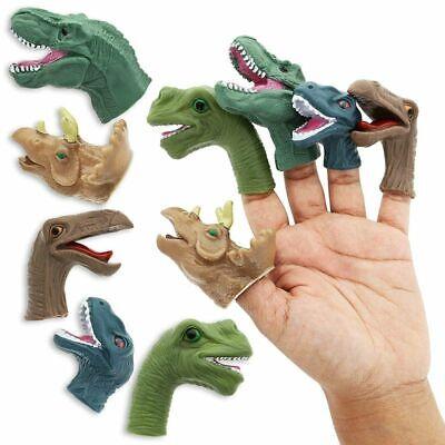 Juvale 10-Pack Finger Dinosaur Puppets Toys For Kids Children, 5 Assorted Design