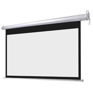 BRAND NEW - Electric Matte White/grey Motorized Projector Screen
