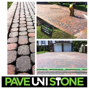 PAVE_UNI STONE - UNISTONE CLEANING & SEALING - PAVER MAINTENANCE West Island Greater Montréal image 3