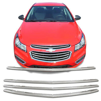 Chrome Grille Overlay Kit (4 PCS) for 2015 Chevy Cruze 2016 Chevy Cruze Limited