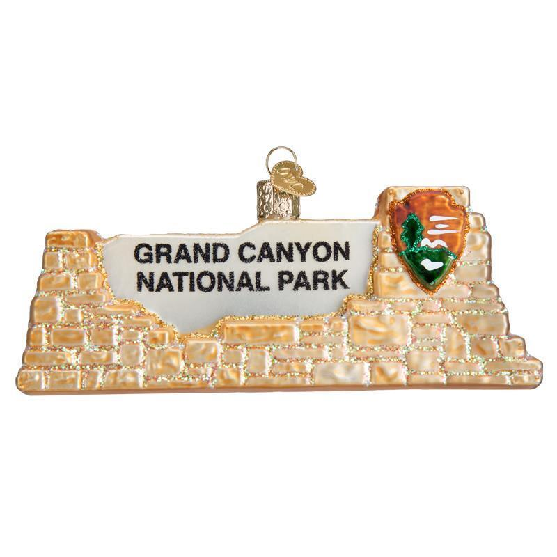 GRAND CANYON NATIONAL PARK OLD WORLD CHRISTMAS GLASS ARIZONA ORNAMENT NWT 36175