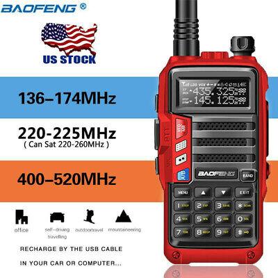 BaoFeng UV-S9 Tri-Band Radio VHF,1.25M,220 Antenna,UHF, Ham Two Way Radio Red US