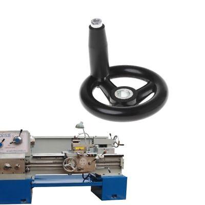3 Spoke Hand Wheel 3.9 Diameter Black With Revolving Handle For Milling Machine