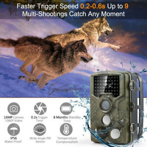 Trail/Camping HD Cam 1080P Infrared LED Waterproof night-vision