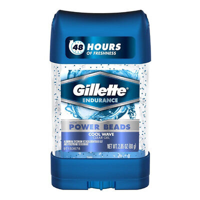 - Gillette Power Beads Anti-Perspirant Deodorant Clear Gel Cool Wave 2.85 (6 pack)