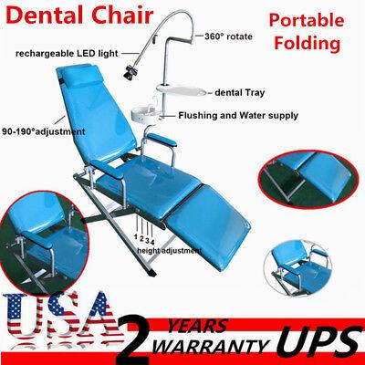 Dental Chair Portable Folding Chair Unit Water Supply Flushing W Led Light