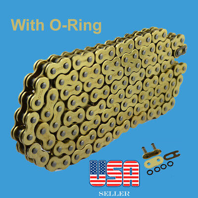 Chain 520 x 120 Gold Color with O-ring Fit:Most Honda Motorcycle