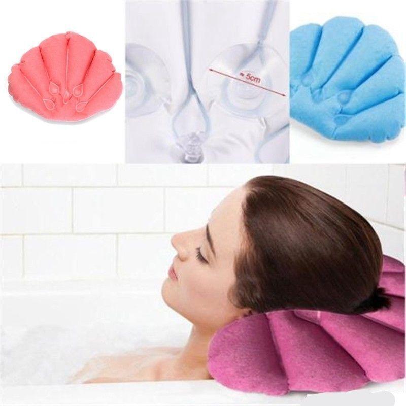 Bath Pillow Cups Shell Shaped Neck