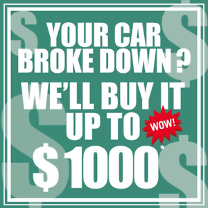 We offer up to $ 1000 *CASH for your car! Best Price!