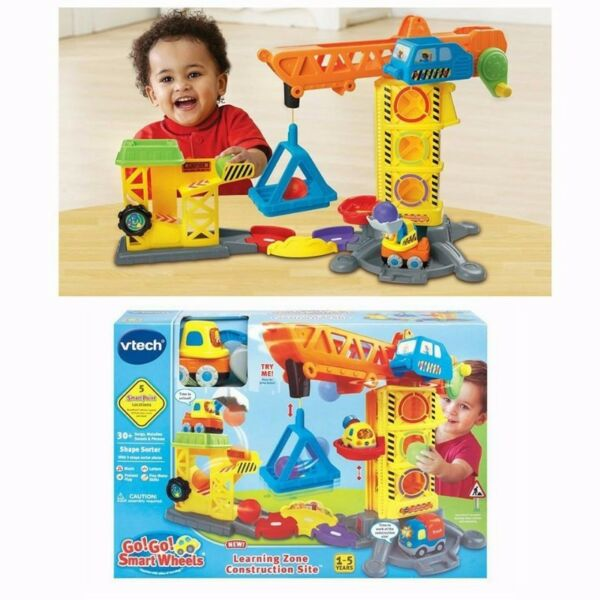 BNIB: VTech Go! Go! Smart Wheels Learning Zone Construction Site - Vtech Toot Toot Drivers