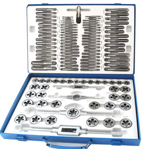 110PC PROFESSIONAL IMPERIAL + METRIC TAP & DIE SET, ALLOY Thread Taper Drill