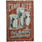 Wandbord Vintage Retro | 40 x 60 CM | MDF - Craft Beer