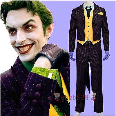 Batman Arkham Asylum Dark Knight Rise Joker Cosplay Full Set Costume Halloween](Batman Arkham Asylum Halloween Costumes)