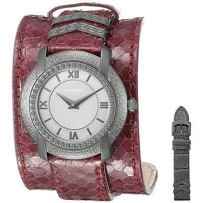 Versace VAM070016 Women's DV-25 Burgundy Quartz Watch