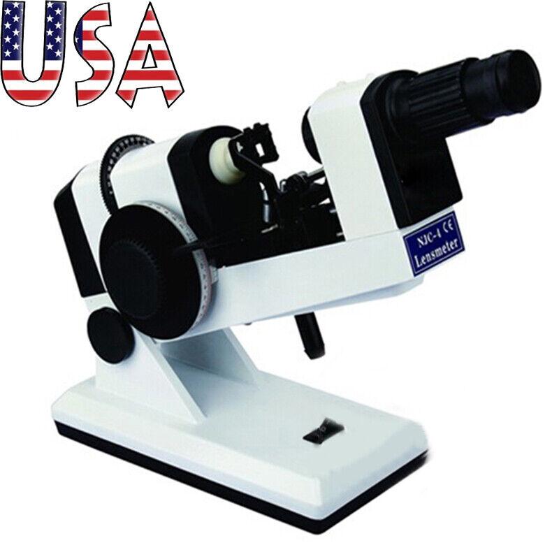 Pro US Plug Manual Lensmeter Lens Tester Scale Clear Focimeter Optometry Machine