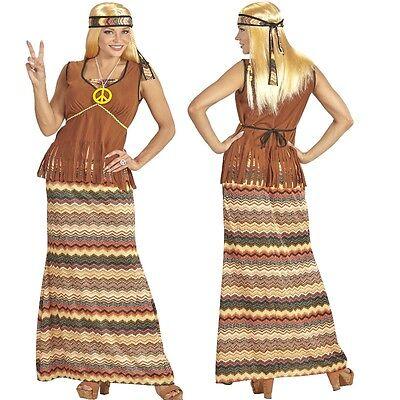 60's 70's Damen Kostüm - HIPPIE WOMEN -  Woodstock Schlagermove Gr. S - XXL - 70 S Kostüme