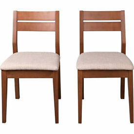 Walnut Solid Wooden Chairs - Brand New in box - 2 pairs (4 chairs) available