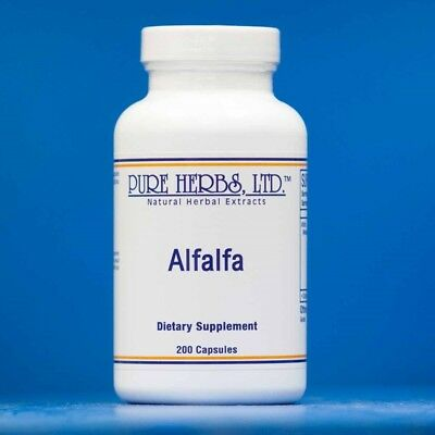 Alfalfa Capsules, great source of minerals 200 ct bottle, best quality