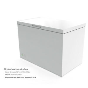 C4P14CF 14 Cu.Ft. 395 Liter 12-24V Off-grid Chest Freezer