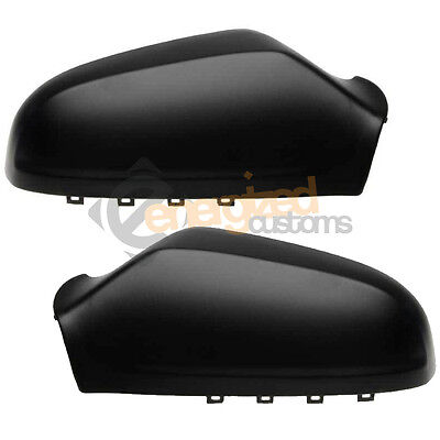 Vauxhall Astra H 2004 2009 Wing Mirror Covers Casings Black Pair Left  Right