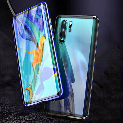 360 Full Body Front + Back Glass Magnetic Case Cover For Huawei P30 Pro P20 Pro