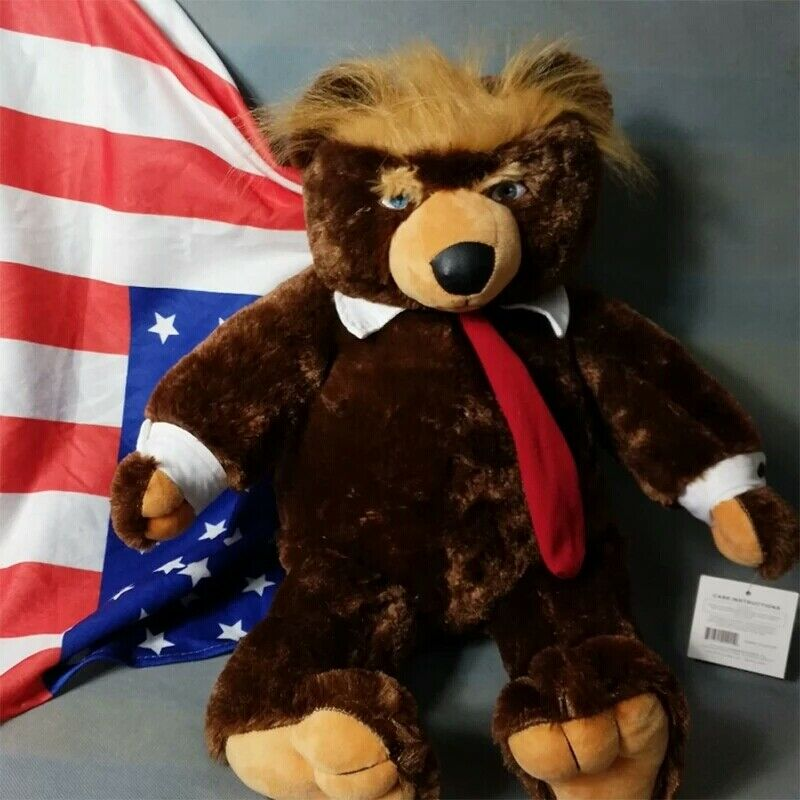 Donald Trump Bear Plush Stuffed Toys USA Campaign Limited Trumpy Edition F1T3