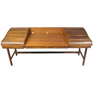Mid Century Modern Rosewood Walnut Wormley Desk Retro MCM Teak