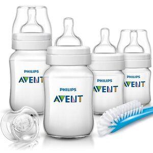 PHILIPS AVENT: Neugeborenen Set SCD371/00 Baby Flaschen,Starterset,Klassik+ plus