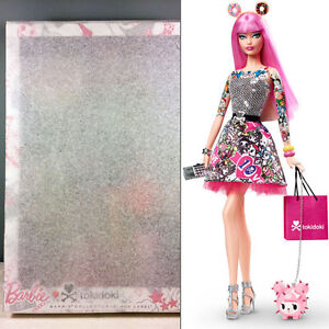 2015-tokidoki-Barbie-Doll-Black-Label-Pink-Hair-Tattoos-NRFB-in-Tissue