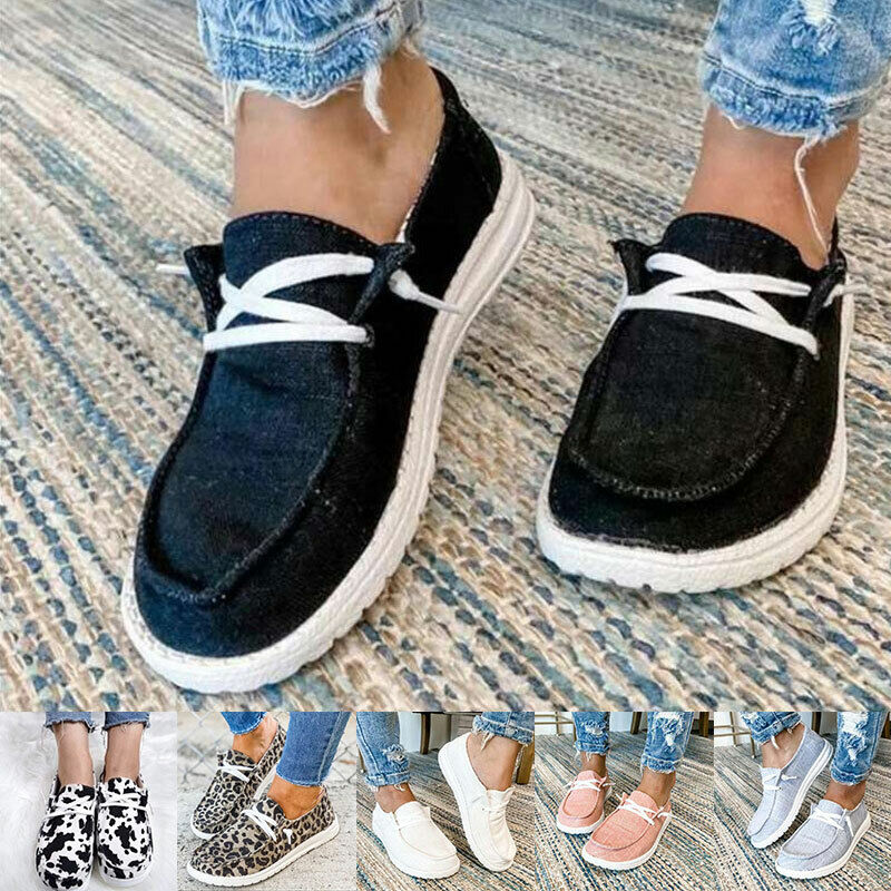 Womens Summer Pumps Slip On Flat Loafers Trainers Sneakers Casual Boat Shoes USA