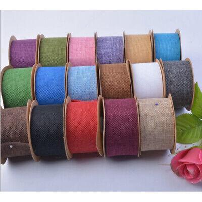 Diy Burlap Table Runner (Burlap Roll Party Wedding Table Runner Bouquet Decoration DIY Craft Cloth)