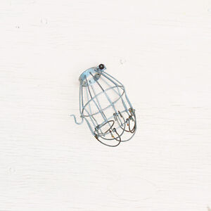 Vintage Industrial Wire Light Cage