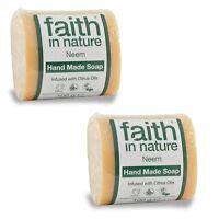 Faith In Nature Neem Fatti A Mano Sapone 2x100g - Vegani - Animale Cruelty-free -  - ebay.it