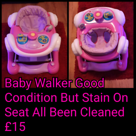 Baby Walker Good Condition But Stain On Seat.