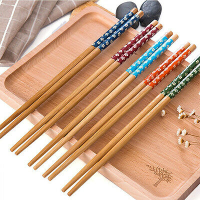 5 pairs/lot Wooden Chopsticks Engraved Bamboo Chinese Retro Nation - Wooden Chopsticks