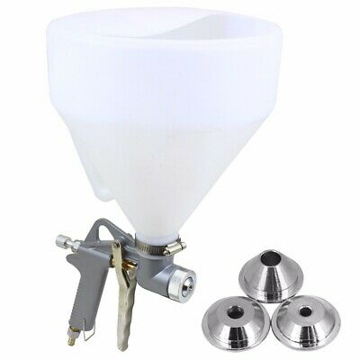 3 Nozzle Air Hopper Spray Gun Paint Texture Tool Drywall Wall Painting Sprayer