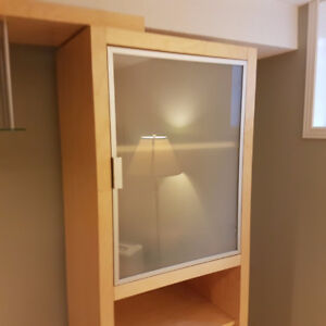 NEW - Frosted Glass Cabinet DOORS -- orig. $29 -- CRAZY CHEAP $8