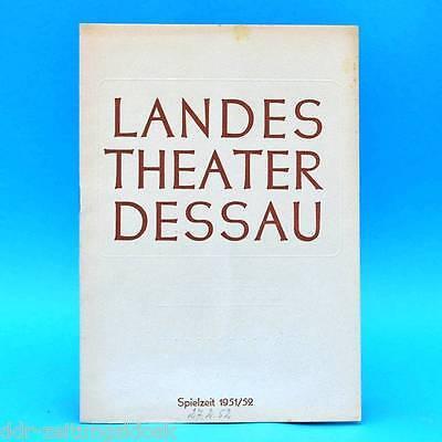 Landestheater Dessau | Die ung. Hochzeit | DDR | Programmheft  Spielzeit 1951/52