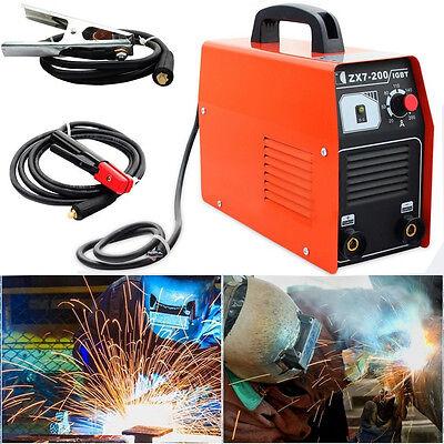 Portable 220v Igbt Inverter Welding 20-200a Mma Welder Machine W Cooling Fan