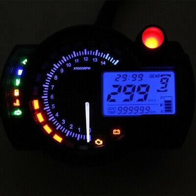 Universal Motorcycle 15000RPM LCD Odometer Speedometer Tachometer Gauge