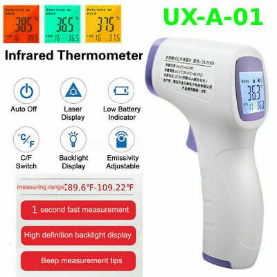 Non-contact Forehead Thermometer Gun Lcd Digital Ir Infrared Body Temperature De