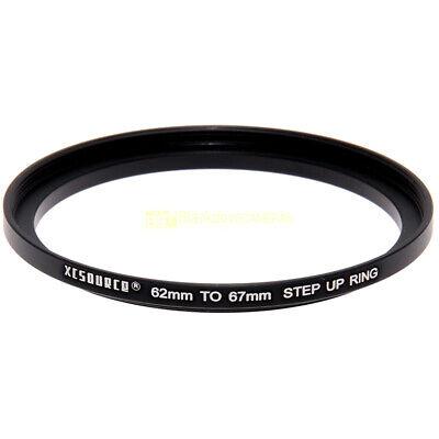 Adattatore step up 62/67mm. per filtri 67 mm. su obiettivi diam. 62. Adapter.
