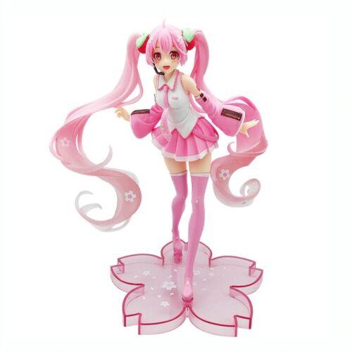 Hatsune Miku Pink Sakura Action Figure Christmas Gift Cherry Blossom Dress