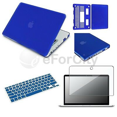 "For New Apple Macbook PRO 13"" Blue Rubberized Hard Case keyboard Cover 3in1 on Rummage"